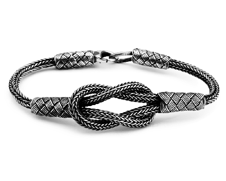 Tesbihane - El İşçiliği Düğüm Tasarım 1000 Ayar Kazaz Bileklik