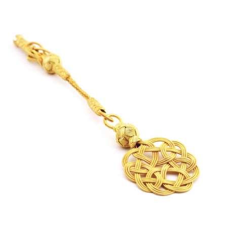 - Gold Renk 1000 Ayar Gümüş Kazaz Püskül
