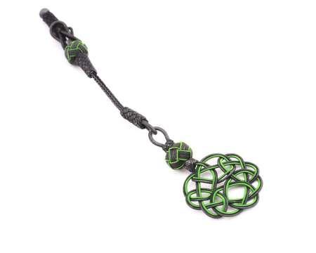 - Gri-Yeşil Renk 1000 Ayar Gümüş Kazaz Püskül