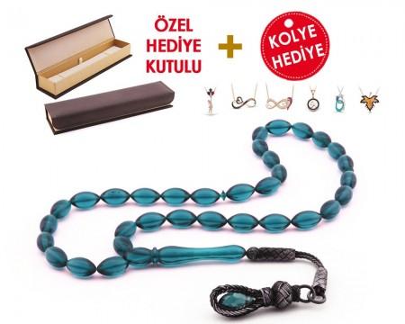 1000 Ayar Kazaz Püsküllü Özel Hediye Kutulu Tesbih (Model-3) - Thumbnail