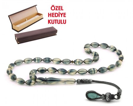 1000 Ayar Kazaz Püsküllü Özel Hediye Kutulu Tesbih (Model-5) - Thumbnail