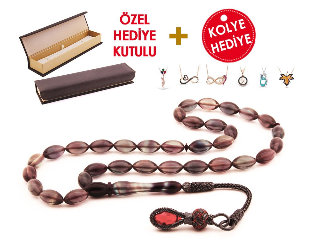 1000 Ayar Kazaz Püsküllü Özel Hediye Kutulu Tesbih (Model-6)