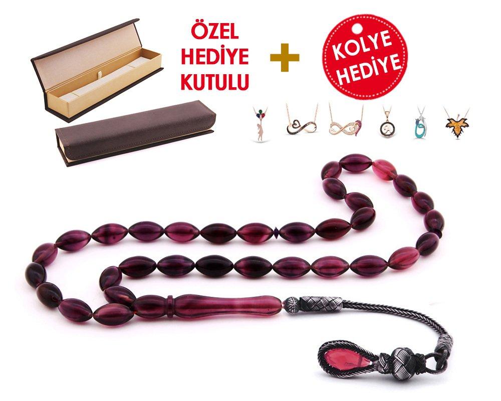 1000 Ayar Kazaz Püsküllü Özel Hediye Kutulu Tesbih (Model-7)