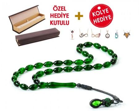 1000 Ayar Kazaz Püsküllü Özel Hediye Kutulu Tesbih (Model-9) - Thumbnail