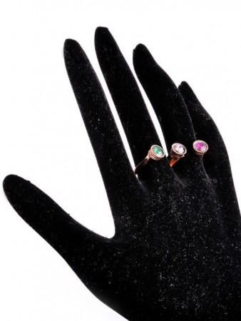 - 3 Taşlı İki Parmak Yüzüğü