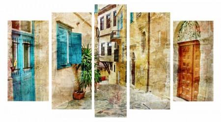 - 5 Parça Sokak Temalı Kanvas Tablo