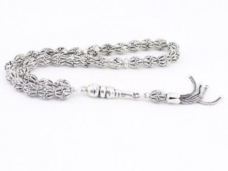 - 925 Ayar Arpa Model Gümüş Tesbih