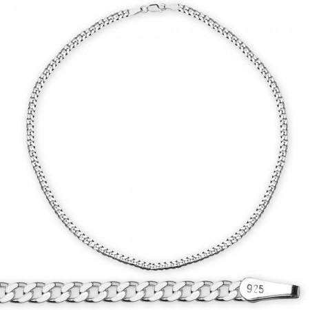 Tesbihane - 925 Ayar Gümüş 50 cm 120 Mikron Gurmet Erkek Zincir Kolye