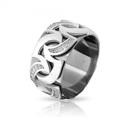 - Alev Tasarım Zirkon Taşlı 925 Ayar Gümüş Bayan Alyans