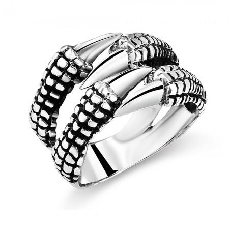 - Ayarlanabilen Ölçülü Pençe Tasarım 925 Ayar Gümüş Erkek Yüzük