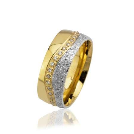 - Modern Tasarım Zirkon Taşlı 925 Ayar Gümüş Bayan Alyans