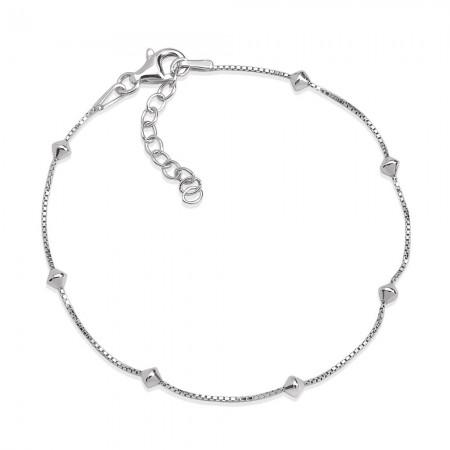 Box Zincirli 925 Ayar Gümüş Bayan Bileklik - Thumbnail