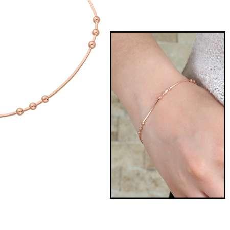 - Küre-Yılan Zincirli 925 Ayar Gümüş Bayan Bileklik