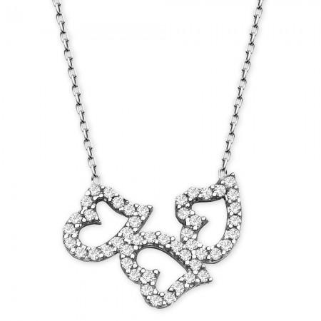 Tesbihane - 925 Ayar Gümüş Bayan Kolye