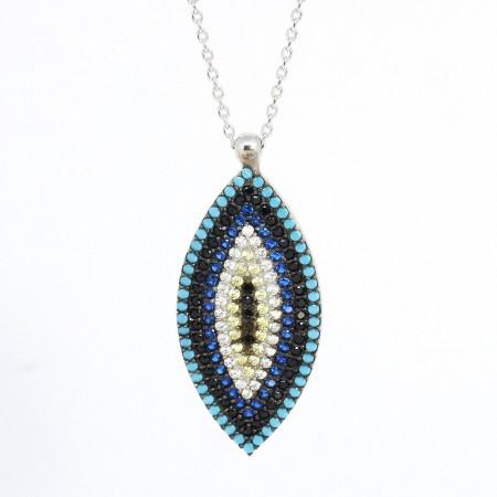 925 Ayar Gümüş Bayan Kolye (Model-1) - Thumbnail