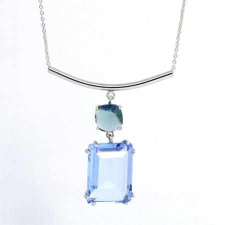 925 Ayar Gümüş Bayan Kolye (Model-11) - Thumbnail