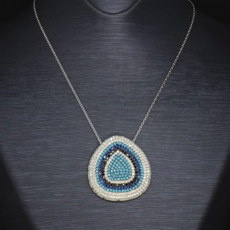 925 Ayar Gümüş Bayan Kolye (Model-16) - Thumbnail
