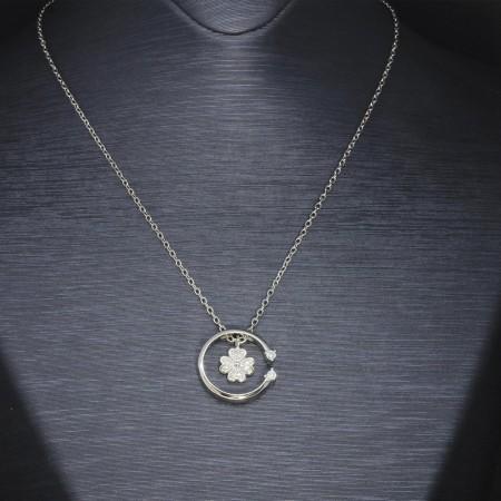 Tesbihane - 925 Ayar Gümüş Bayan Kolye (Model-22)