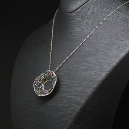 Tesbihane - 925 Ayar Gümüş Bayan Kolye (Model-28)