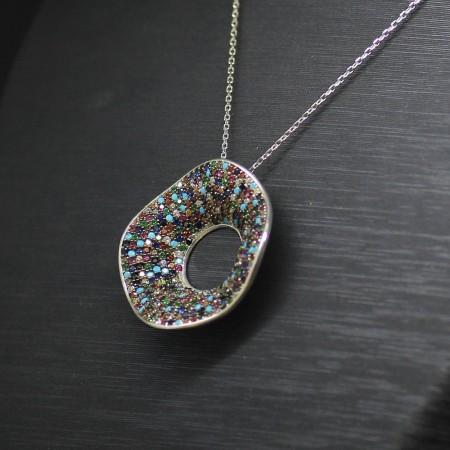 925 Ayar Gümüş Bayan Kolye (Model-28) - Thumbnail