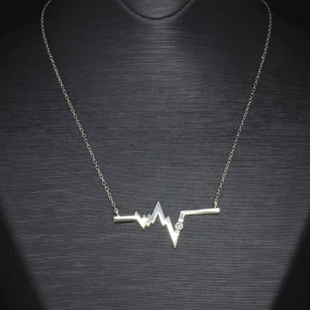 Tesbihane - 925 Ayar Gümüş Bayan Kolye (Model-30)