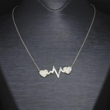 Tesbihane - 925 Ayar Gümüş Bayan Kolye (Model-32)