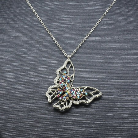 925 Ayar Gümüş Bayan Kolye (Model-38) - Thumbnail