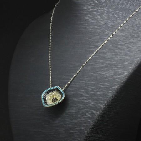 Tesbihane - 925 Ayar Gümüş Bayan Kolye (Model-43)