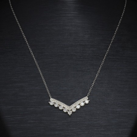 925 Ayar Gümüş Bayan Kolye (Model-47) - Thumbnail