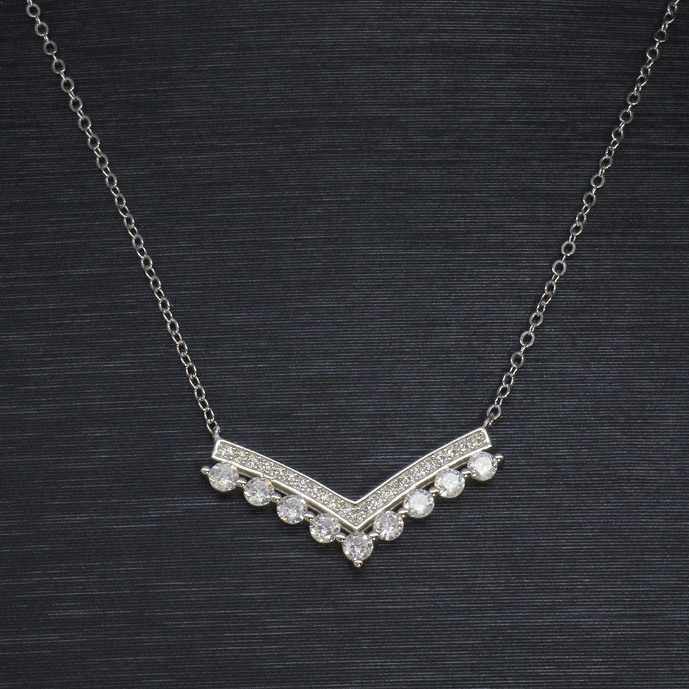 925 Ayar Gümüş Bayan Kolye (Model-47)