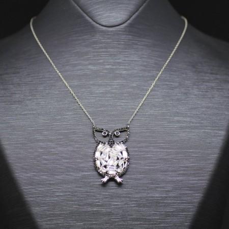 Tesbihane - 925 Ayar Gümüş Bayan Kolye (Model-49)