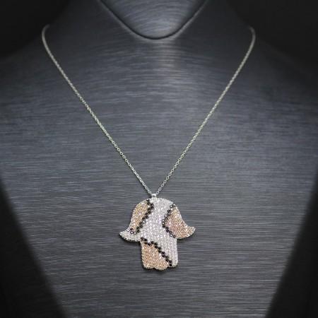 Tesbihane - 925 Ayar Gümüş Bayan Kolye (Model-5)