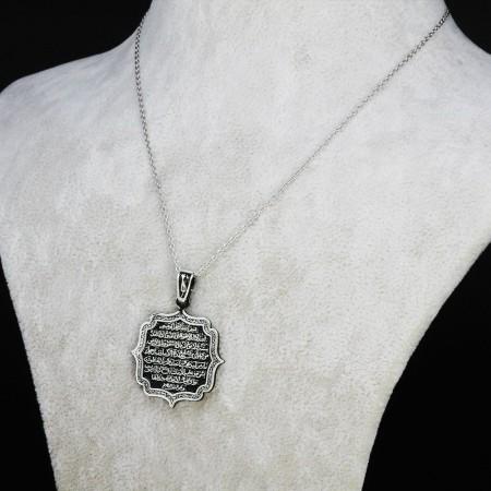 Tesbihane - 925 Ayar Gümüş Bayan Kolye (Model-51)