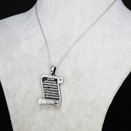 Tesbihane - 925 Ayar Gümüş Bayan Kolye (Model-52)