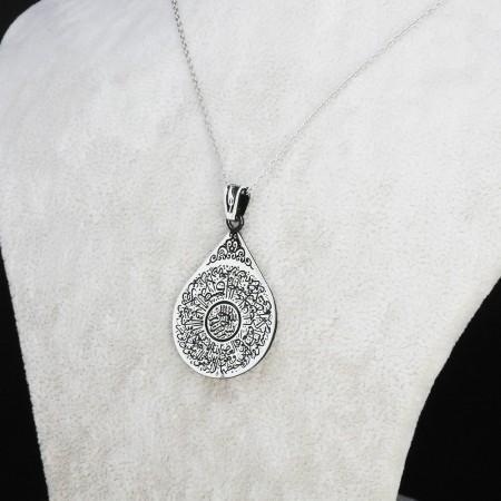 Tesbihane - 925 Ayar Gümüş Bayan Kolye (Model-54)