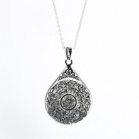 925 Ayar Gümüş Bayan Kolye (Model-54) - Thumbnail