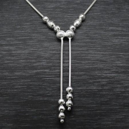 925 Ayar Gümüş Bayan Kolye (Model-56) - Thumbnail