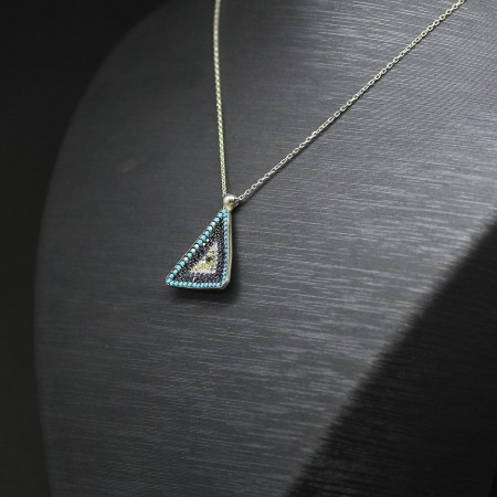 Tesbihane - 925 Ayar Gümüş Bayan Kolye (Model-62)