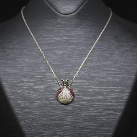 Tesbihane - 925 Ayar Gümüş Bayan Kolye (Model-63)