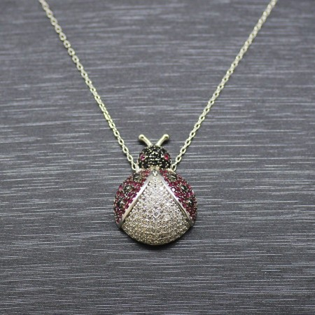925 Ayar Gümüş Bayan Kolye (Model-63) - Thumbnail