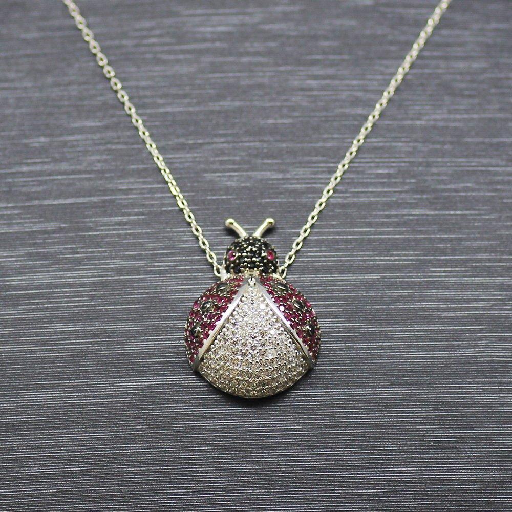 925 Ayar Gümüş Bayan Kolye (Model-63)