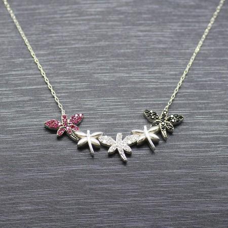 925 Ayar Gümüş Bayan Kolye (Model-69) - Thumbnail