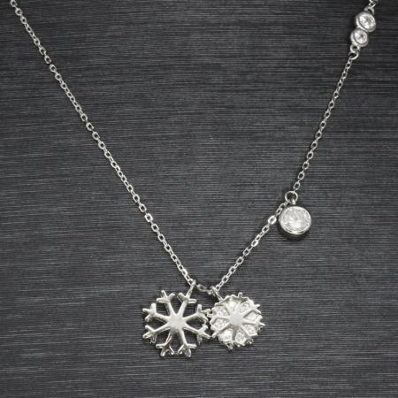 925 Ayar Gümüş Bayan Kolye (Model-71) - Thumbnail
