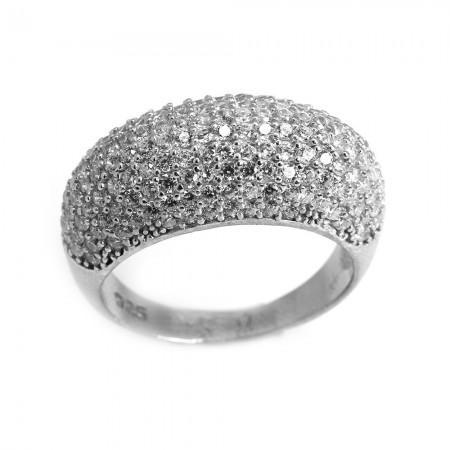 925 Ayar Gümüş Bayan Yüzük (Model-113) - Thumbnail