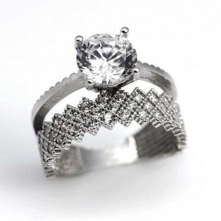 Tesbihane - 925 Ayar Gümüş Bayan Yüzük (Model-24)