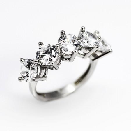 Tesbihane - 925 Ayar Gümüş Bayan Yüzük (Model-9)