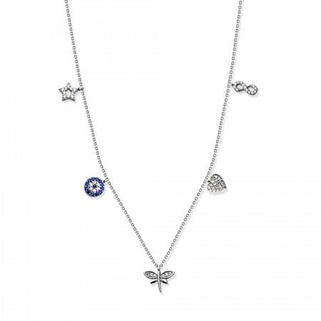 - 925 Ayar Gümüş Beşli Şans Kolye (Model 1)
