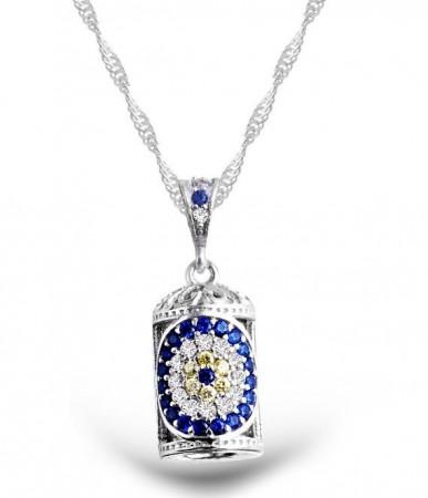 - 925 Ayar Gümüş Çiçek Motifli Cevşen Kolye