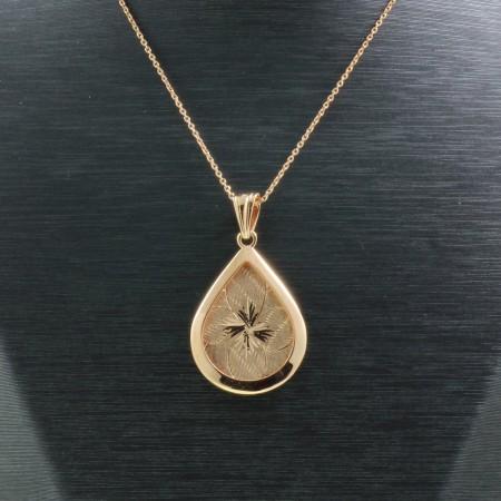 925 Ayar Gümüş Çift Taraflı Bayan Kolye (Model-88) - Thumbnail