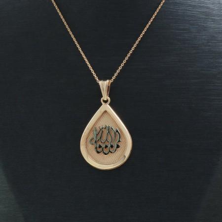 925 Ayar Gümüş Çift Taraflı Bayan Kolye (Model-92) - Thumbnail